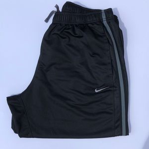 Nike workout polyester pants with drawstring waist